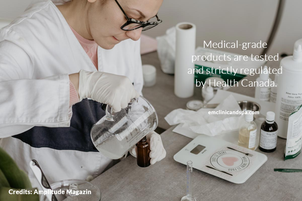 Medical-grade products are tested and strictly regulated