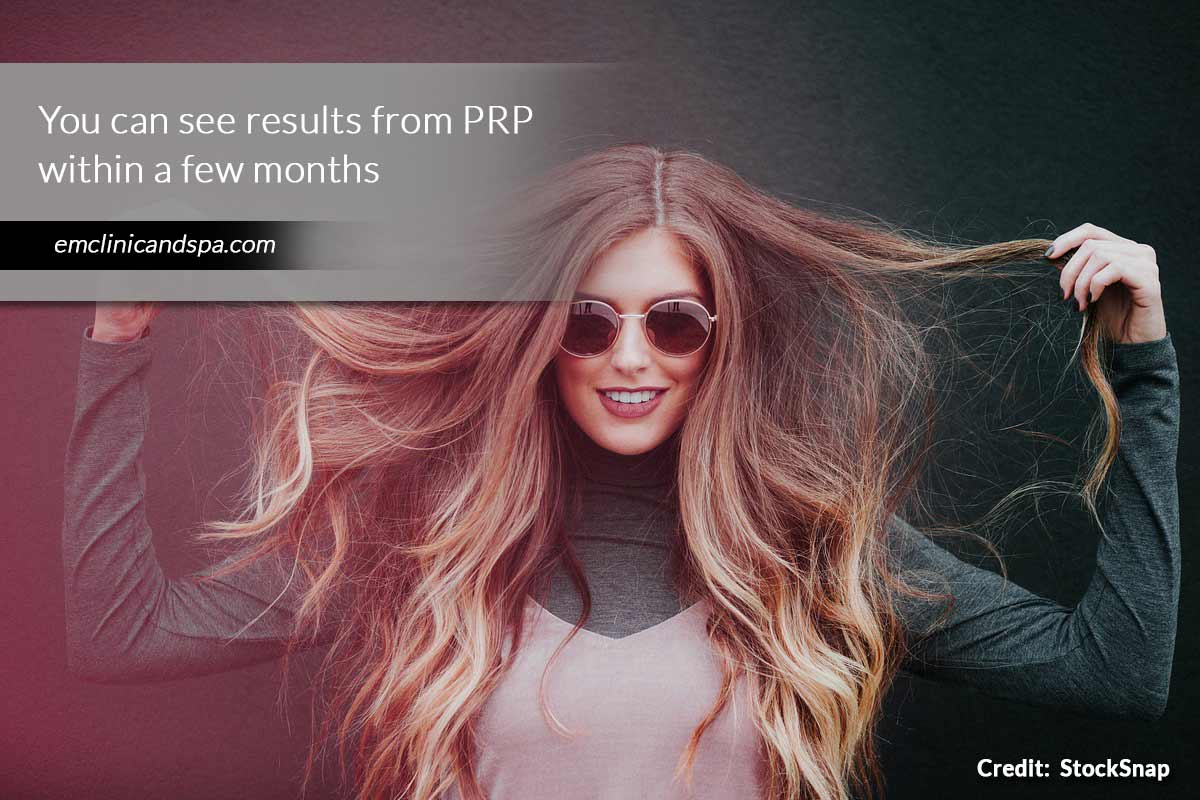 see results from PRP within a few months