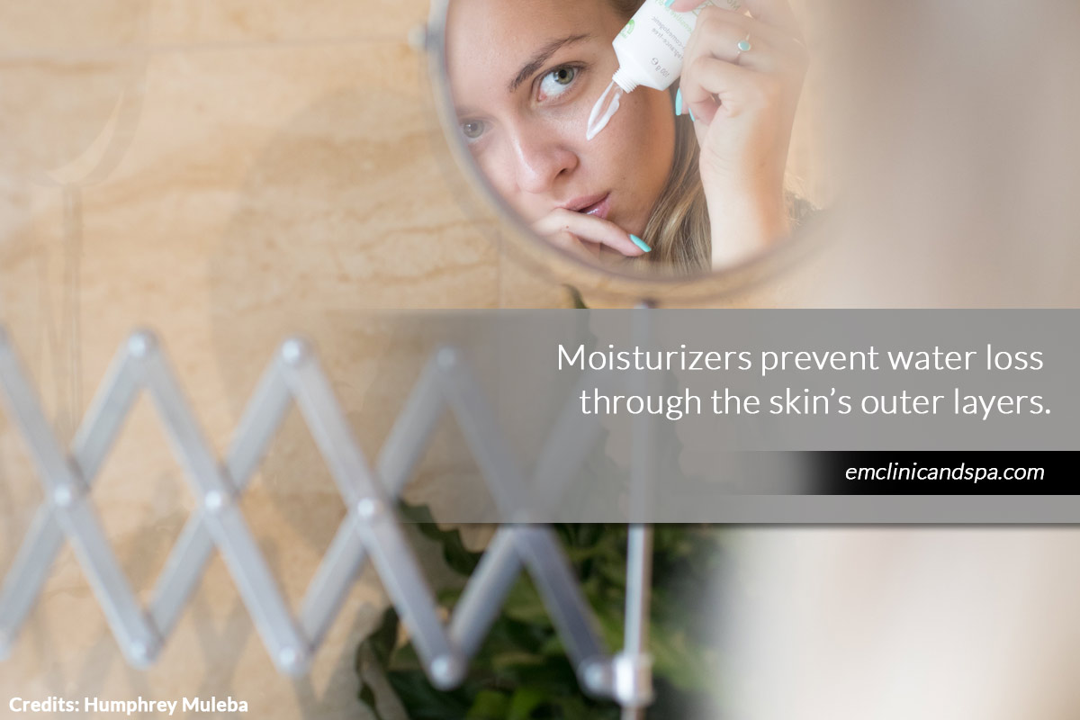 Moisturizers prevent water loss