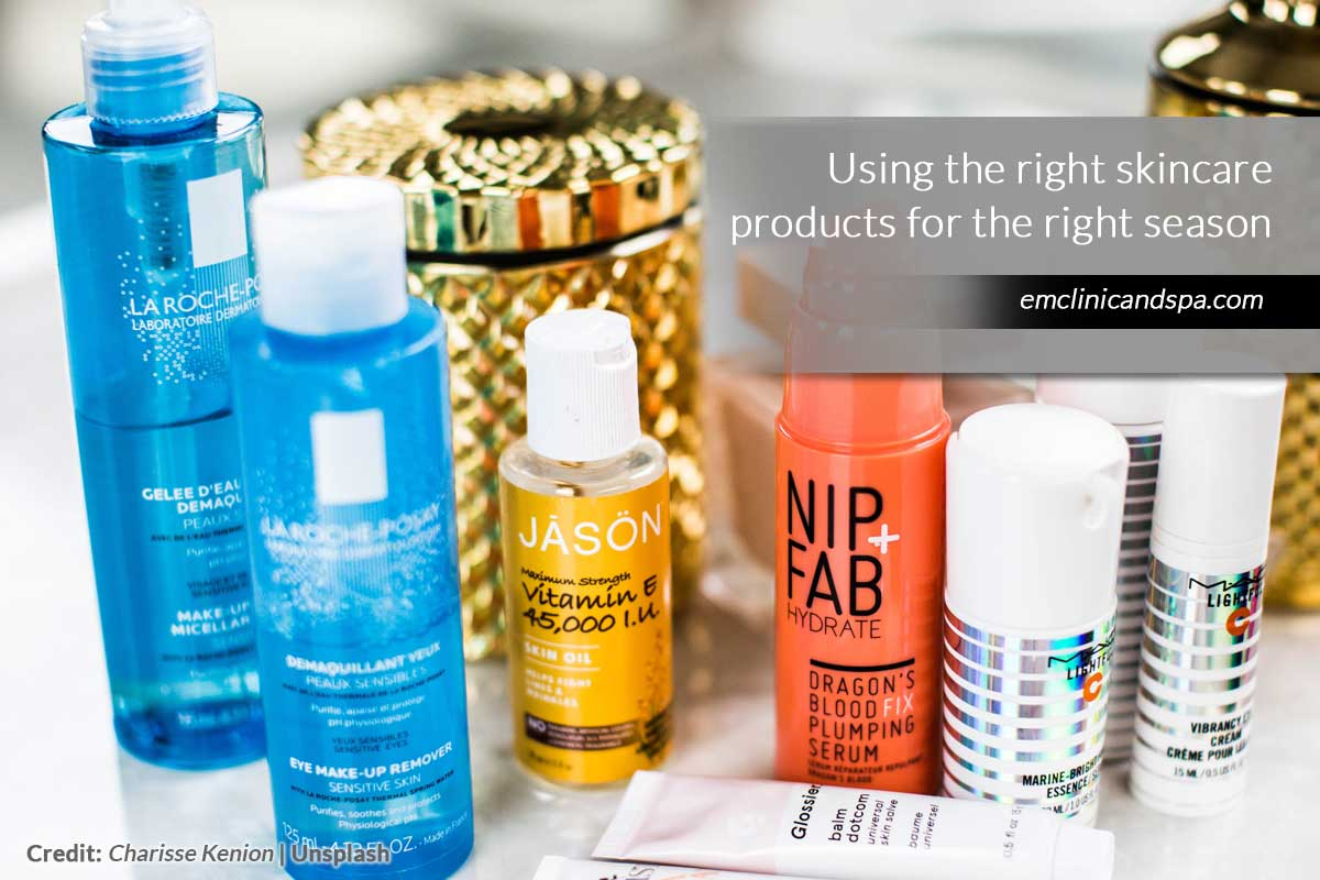 Using the right skincare products for the right season